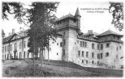 carte postale château d'Avauges