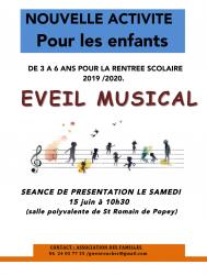 Affiche atelier musical